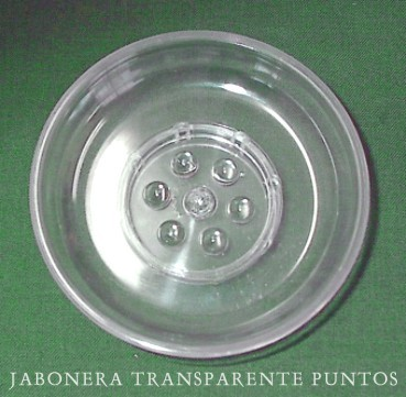 Jabonera transparente